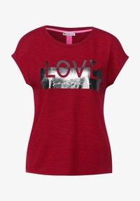 Street One - MIT FOLIENPRINT - Print T-shirt - rot - 3