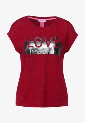 MIT FOLIENPRINT - Print T-shirt - rot