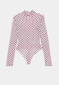 Missguided Tall - FLOCKED SPOT - Long sleeved top - baby pink - 4