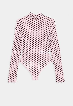 FLOCKED SPOT - Long sleeved top - baby pink