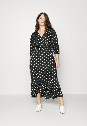 VMHENNA LONG WRAP DRESS VIP - Maxi dress - black