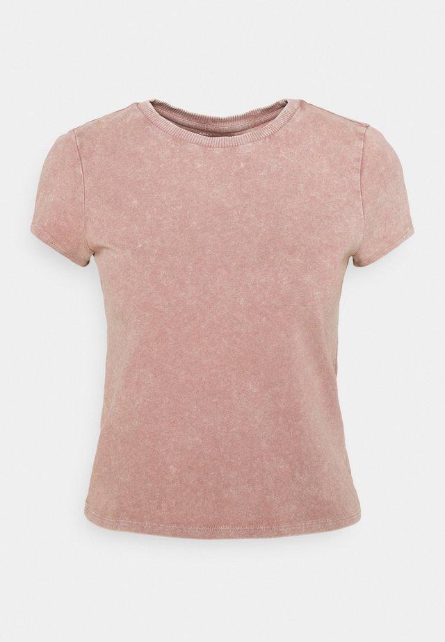 LOUNGE TOM GIRL TEE - T-shirt imprimé - taupe