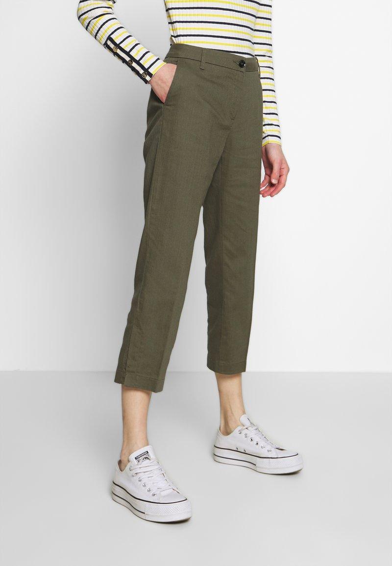 Sisley - TROUSERS - Pantaloni - khaki