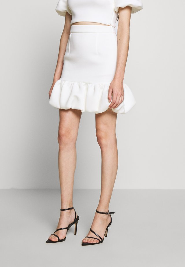 SKIRT PETITE - Mini skirt - white