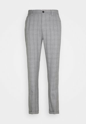 PINO CHECK ELASTIC WAIST PANTS - Trousers - light grey melange