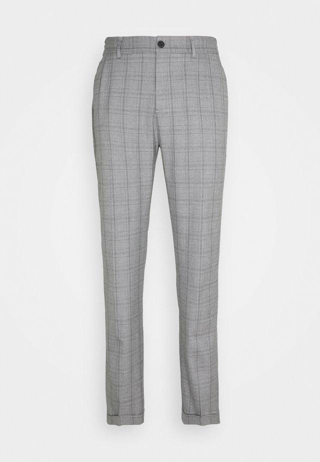 PINO CHECK ELASTIC WAIST PANTS - Pantaloni - light grey melange