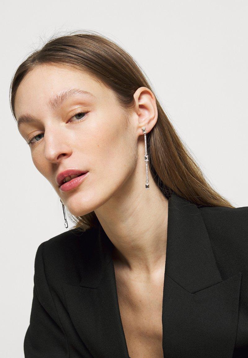 Lauren Ralph Lauren - BAGUETTE LINEAR - Earrings - silver-coloured