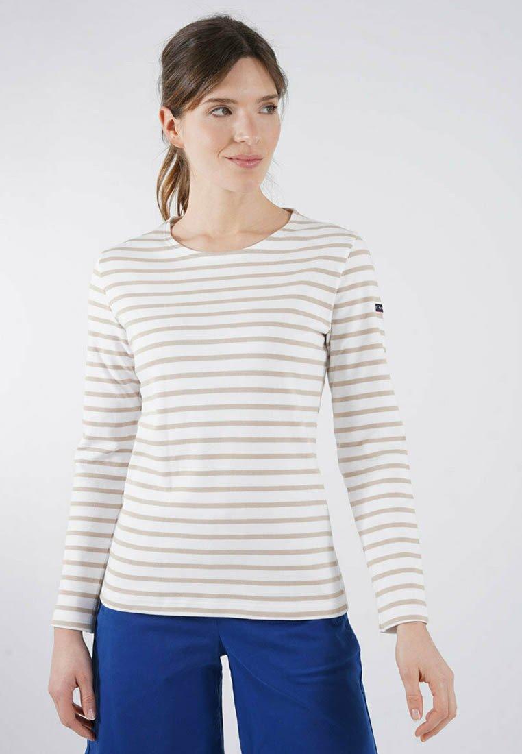 Armor lux - LESCONIL MARINIÈRE - Long sleeved top - blanc/zanna