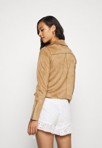 ONLY - BIKER - Faux leather jacket - toasted coconut - 2