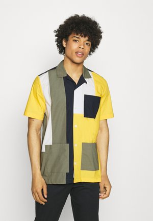 BRANDON - Camisa - green/color block