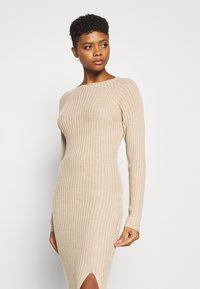 Nly by Nelly - TWISTED BACK DRESS - Jumper dress - beige - 3