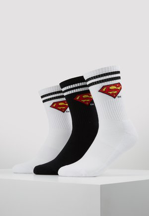 SUPERMAN 3 PACK - Sokken - white/black/white