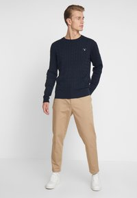 GANT - CABLE CREW - Neule - evening blue - 1