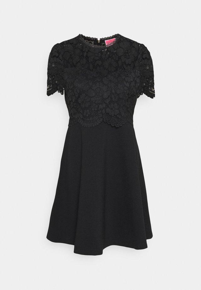 BODICE PONTE DRESS - Day dress - black