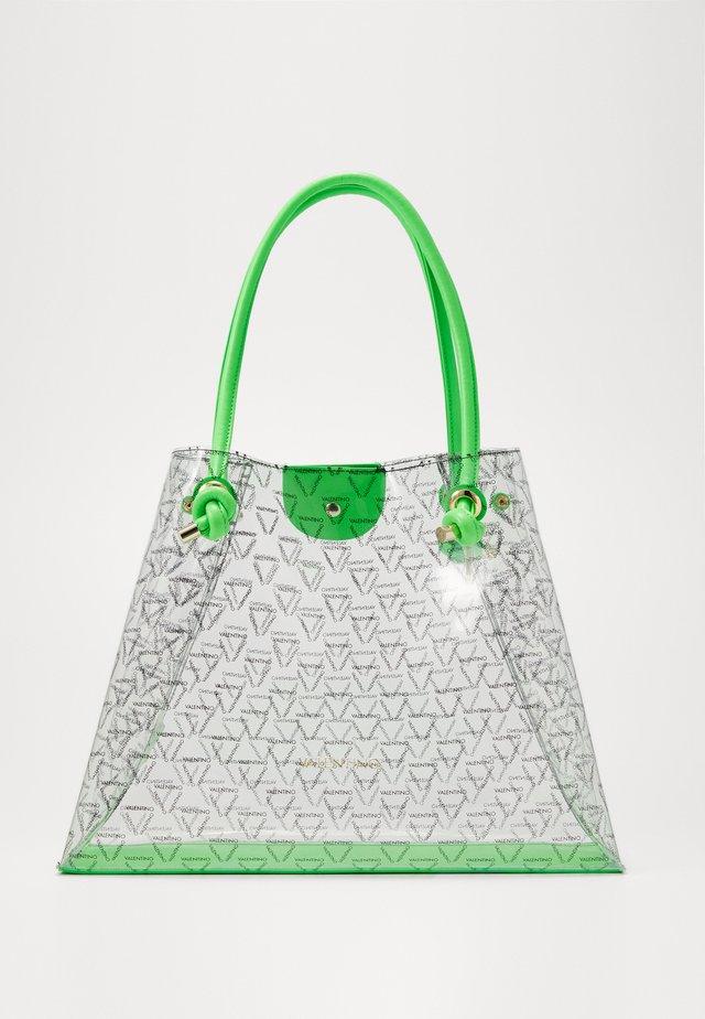 AUROR - Velká kabelka - transparent/green