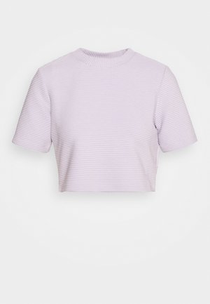 CROPPED TEE - T-shirt con stampa - purple