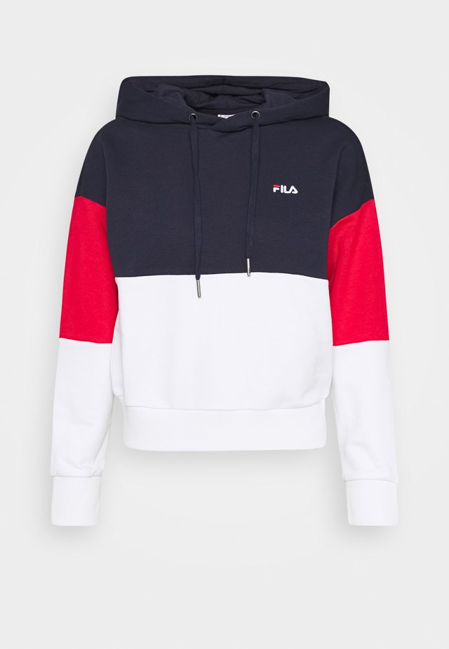 SANJA CROPPED HOODY - Hoodie - black iris/bright white/true red