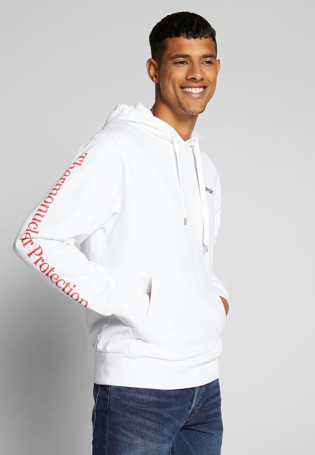 THERMONUCLEAR HOODIE - Jersey con capucha - white