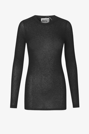 MILLIE O-NECK - Top sdlouhým rukávem - black