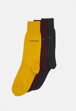 MEN CREW COMBED FLAT ERIC 3 PACK - Socks - bordeaux
