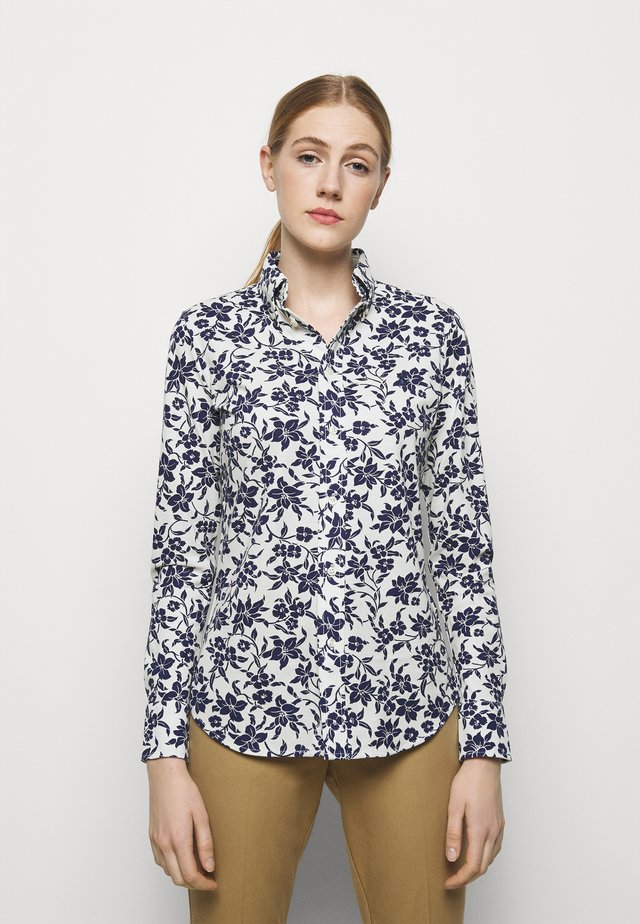 OXFORD - Button-down blouse - navy/cream