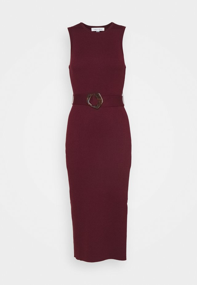 IMOGEN SLEEVELESS MIDI DRESS - Pouzdrové šaty - bordeaux