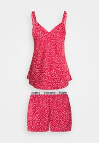 Tommy Hilfiger - CAMI SHORT PRINT SET - Pyjamas - primary red - 0
