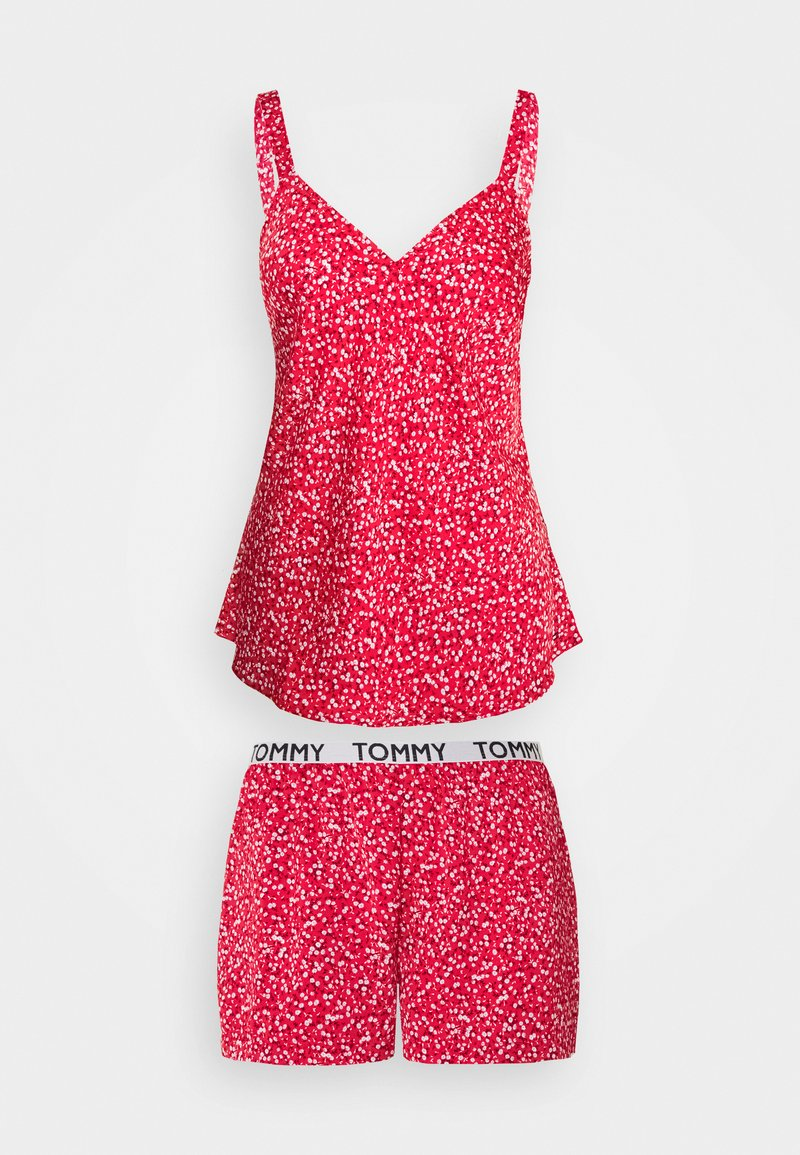 Tommy Hilfiger - CAMI SHORT PRINT SET - Pyjamas - primary red