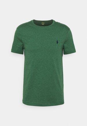 CUSTOM SLIM FIT JERSEY CREWNECK T-SHIRT - T-shirt - bas - verano green heather