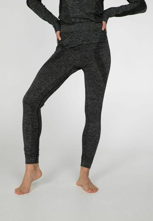 THERMO - Leggings - Trousers - dark grey melee
