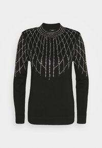 Wallis - LINEAR SPARKLE JUMPER - Pullover - black - 4