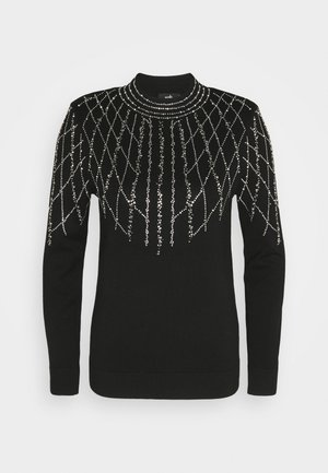 LINEAR SPARKLE JUMPER - Maglione - black