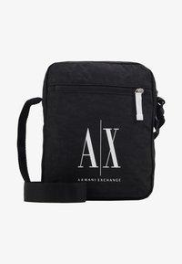 Armani Exchange - SMALL CROSSBODY BAG - Across body bag - black - 4