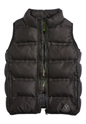 BLACK PADDED GILET (3-16YRS) - Smanicato - black