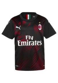 Puma - MILAN  - Print T-shirt - black-tango red - 0