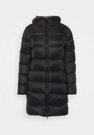 Down coat - black dark steel