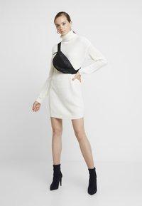 Missguided - ROLL NECK BASIC DRESS - Jumper dress - off white - 1
