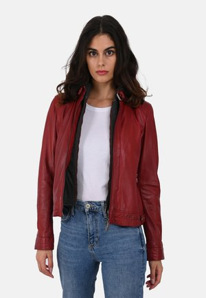 SUNDAY - Leather jacket - deep red