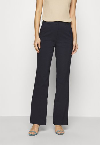 Flared Business Trousers - Pantaloni - dark blue