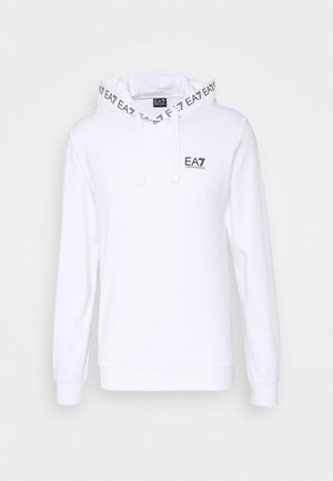 HOODIE COLLAR LOGO COFT - Sweat à capuche - white