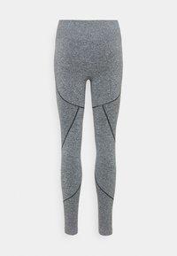 NU-IN - SEAMLESS TWO TONE HIGH WAIST LEGGINGS - Leggings - grey - 7