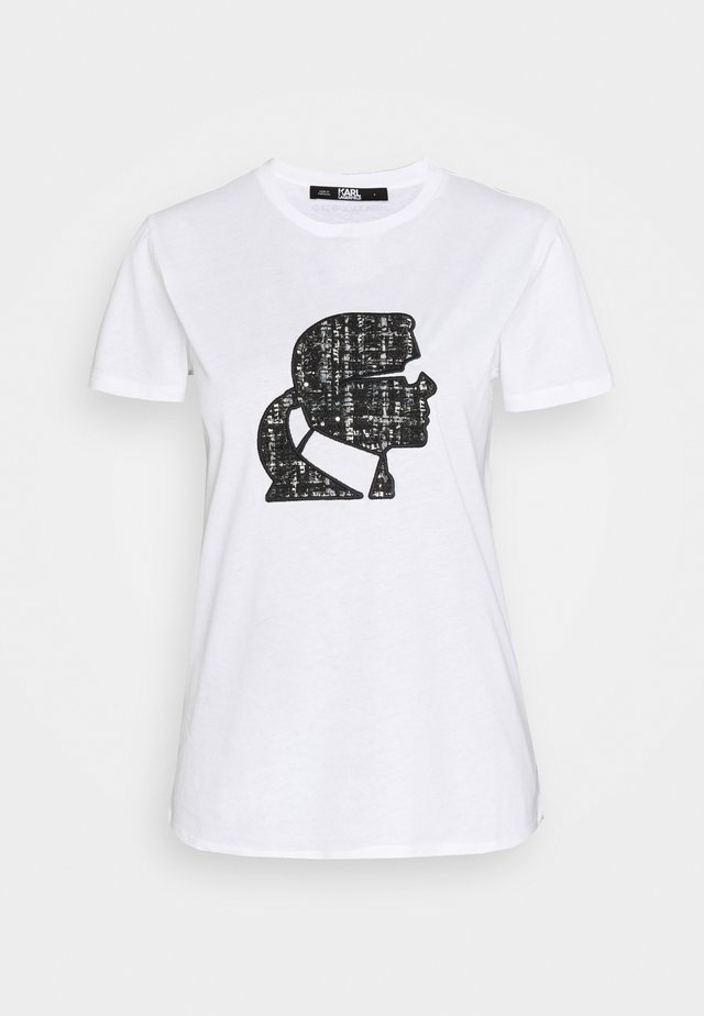 BOUCLE KARL PROFILE  - T-shirts med print -  white