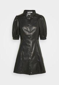 NA-KD - PUFF SLEEVE DRESS - Blousejurk - black - 6