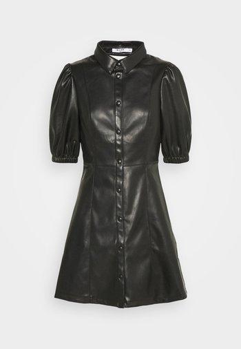 PUFF SLEEVE DRESS - Robe chemise - black