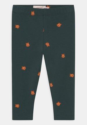 SQUIRREL BABY PANT UNISEX - Leggings - Trousers - dark green/brown