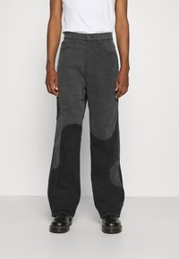 Jaded London - YIN AND YANG CUT AND SEW - Jeans relaxed fit - black - 0