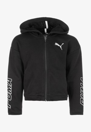 ALPHA - Zip-up hoodie - cotton black