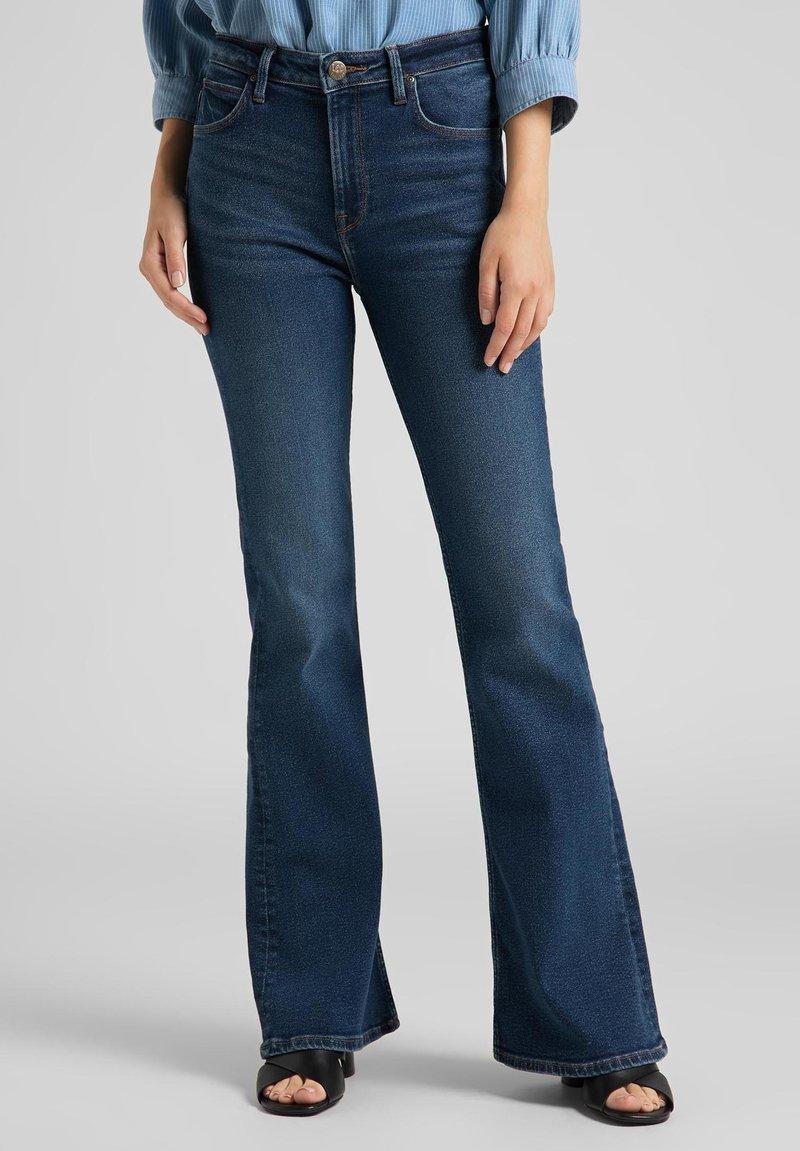 Lee - BREESE - Flared Jeans - dark de niro