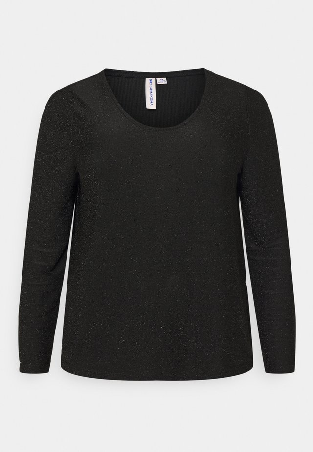CARDARY GLITTER PUFF TOP - Long sleeved top - black