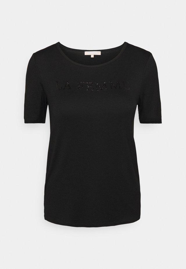 SRFEMME - Camiseta estampada - black